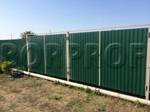 Забор из профнастила - двойные ворота
