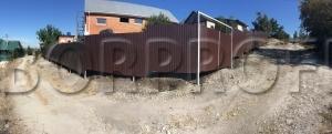 Забор из профнастила - перепады, лист C10 панорама