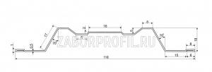 Схема штакетника Премиум 118 мм