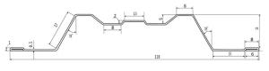 Схема ребра жёсткости евроштакетника