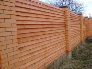 Деревянный забор Жалюзи (сосна)