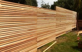Деревянный забор Зебра (Лиственница)