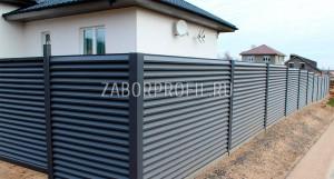 Забор Жалюзи RAL 7024 порошковый матовый
