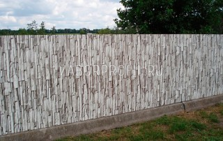 Забор из Белого Плитняка