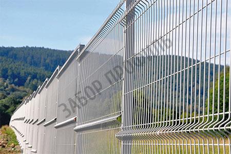 Забор из 3Д панелей Fensys